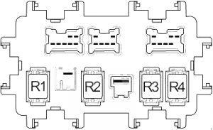 Infiniti QX50 - fuse box diagram - passenger compartment