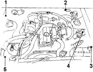 Mitsubishi Starion - 1983 - 1989 - fuse box diagram - relay location 2