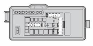 Toyota Passo - fuse box diagram - engine compartment