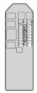 Toyota Passo - fuse box diagram - foot passenger seat