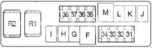 Infiniti FX45 - fuse box diagram - engine compartment fuse box no. 2