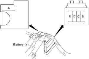 Infiniti G25 - fuse box diagram - fusible link block