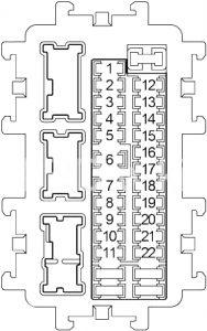 Infiniti G37 - fuse box diagram - passenger compartment fuse box