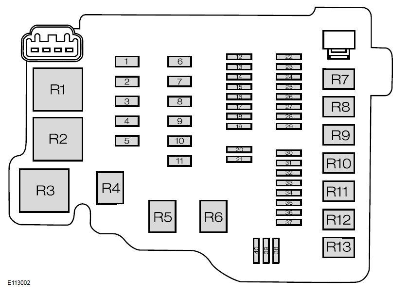 ford fiesta  from 2008  - fuse box diagram