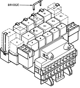 ford fiesta  1988 - 1997  - fuse box diagram