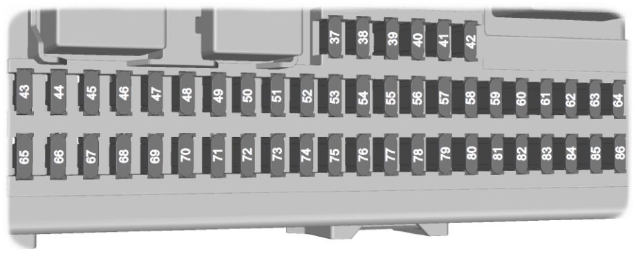Ford Focus  1999 - 2007  - Fuse Box Diagram  Eu Version