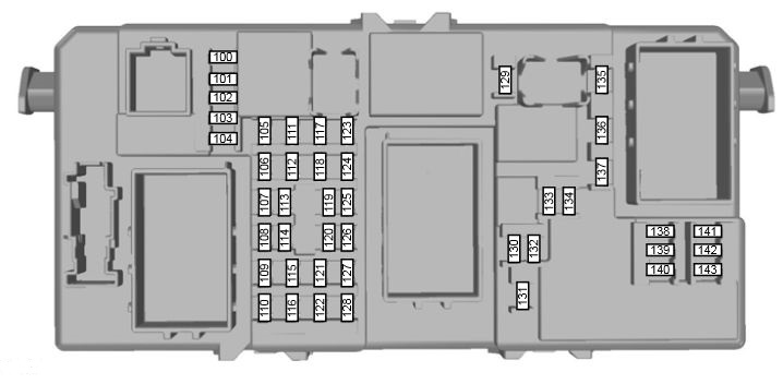 Ford Kuga 1 - fuse box - passenger junction