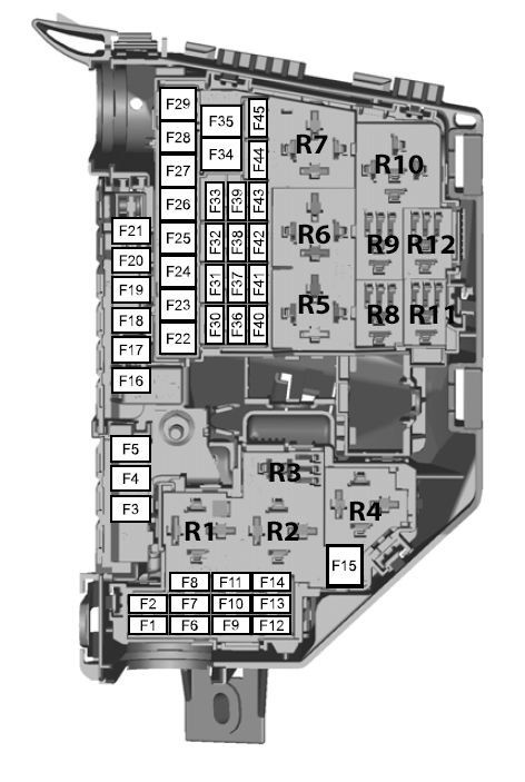 Ford Mondeo  01022007  19082007   fuse box    diagram