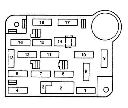 Ford mustang IV instrument box fuse passenger junction ford mustang iv (1993 2004) fuse box diagram auto genius 2004 mustang fuse box layout at crackthecode.co