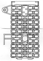 mercedes c class w203 fuse box diagram auto genius mercedes class c w203 fuse box passenger compartment